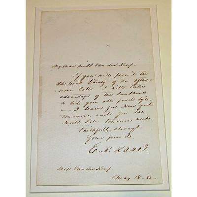Letter from Elisha Kent Kane to