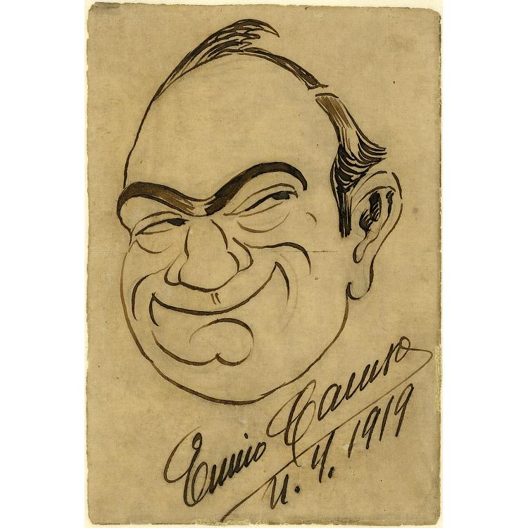images for Enrico Caruso Self-Portrait