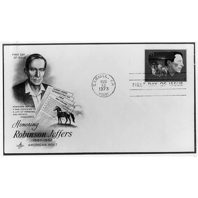 Robinson Jeffers first day issue stamp and envelope