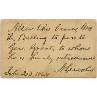 Image of Abraham Lincoln's autograph
