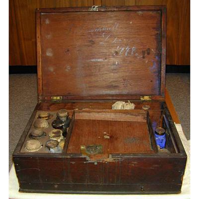 John Trumbull's paint box