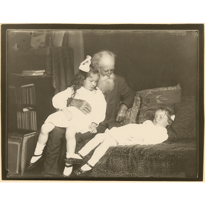 John Burroughs with his Grandchildren
