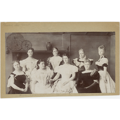 Mrs. Cleveland and Wives of Cleveland Cabinet