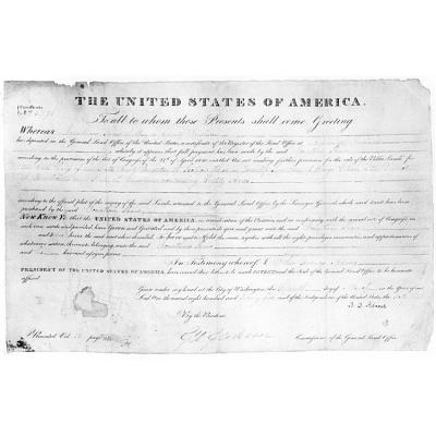 John Quincy Adams' autograph