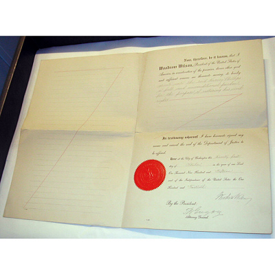 Woodrow Wilson's autograph