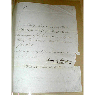 James K. Polk's autograph