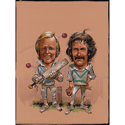 Tony Greig and Dennis Lillee