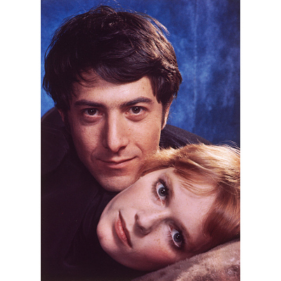 Mia Farrow and Dustin Hoffman