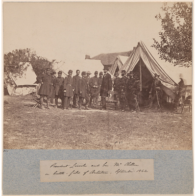President Lincoln and Gen. McClellan on Battle-Field of Antietam
