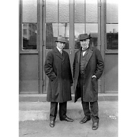 Image of Thomas Edison and Elisha Hudson