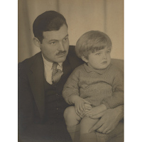 Image of Ernest Hemingway and Son