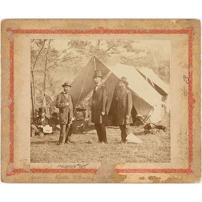Abraham Lincoln, John McClernand and Allan Pinkerton
