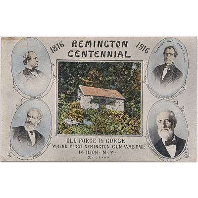 Remington centennial postcard