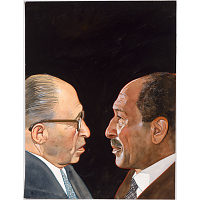 Image of Menachem Begin and Anwar Sadat