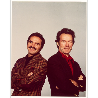 Burt Reynolds and Clint Eastwood