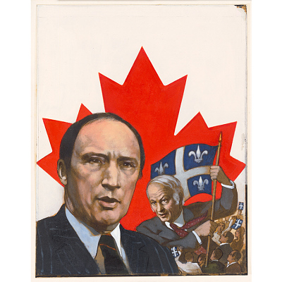 Pierre Trudeau and Rene Levesque