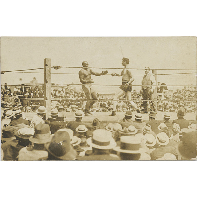 Jack Johnson and Jess Willard