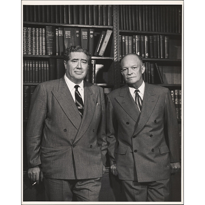 Dwight D. Eisenhower and John Gunther