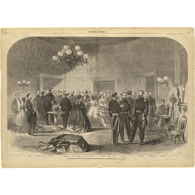 Grand Reception at the White House, January, 1862