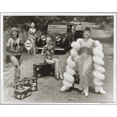 Gypsy Rose Lee and her entourage