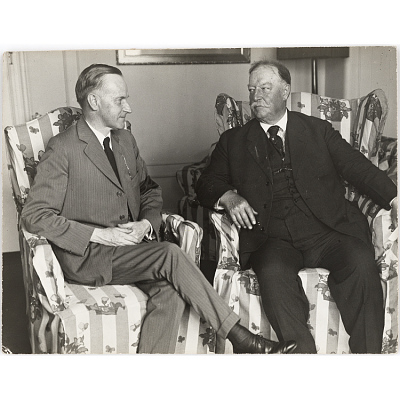 Calvin Coolidge and William Howard Taft