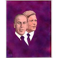Valery Giscard D'Estaing and Helmut Schmidt
