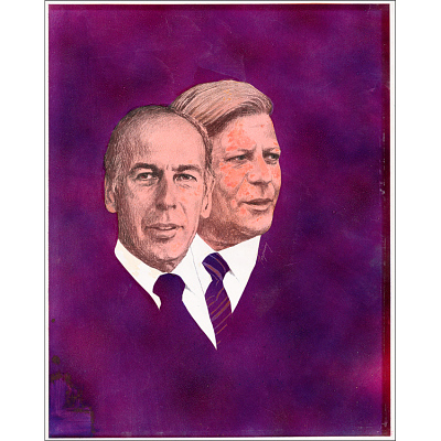 Valery Giscard D'Estaing and Helmut Schmidt