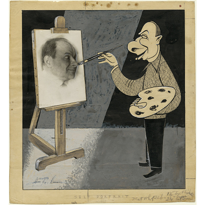 Herman Perlman Self-Portrait