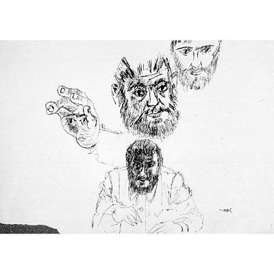 Zero Mostel Self-Portrait