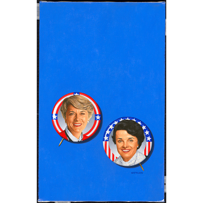 Geraldine Ferraro and Diane Feinstein