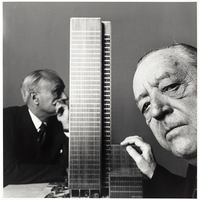 Ludwig Mies van der Rohe and Philip Cortelyou Johnson