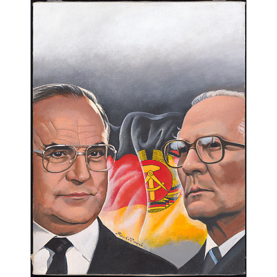 Helmut Kohl and Erich Honecker