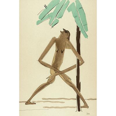 Le Tumulte Noir/Woman with Palm Tree