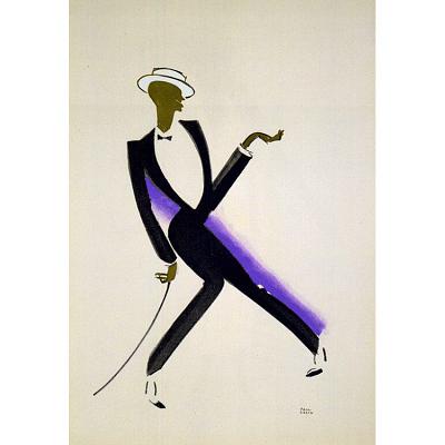 Le Tumulte Noir/Male Dancer with Blue