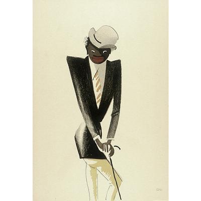 Le Tumulte Noir/Man with Striped Orange Tie