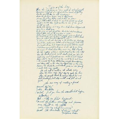 Le Tumulte Noir/Frontispiece Text Handwritten by Josephine Baker