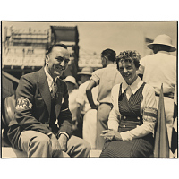 Image of Amelia Earhart and Edward Rickenbacker