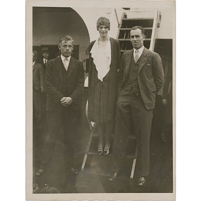 Amelia Earhart, Wilmer Stultz and Lewis Gordon