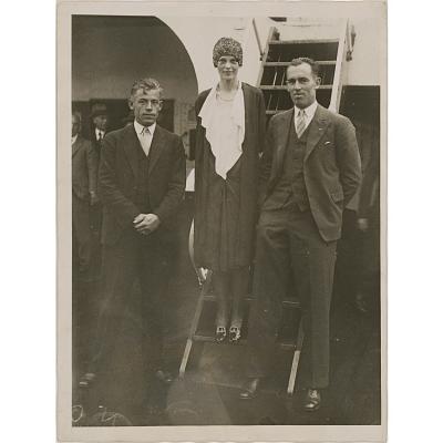 Amelia Earhart, Wilmer Stultz and Lewis Gordon