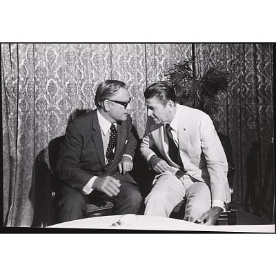 Nelson Rockefeller and Ronald Reagan