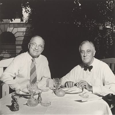 Harry S Truman and Franklin D. Roosevelt