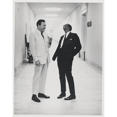 Reverend Adam Clayton Powell, Jr. and Stokely Carmichael