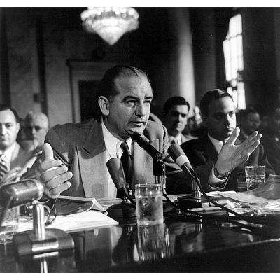 Joseph McCarthy and Roy Cohn