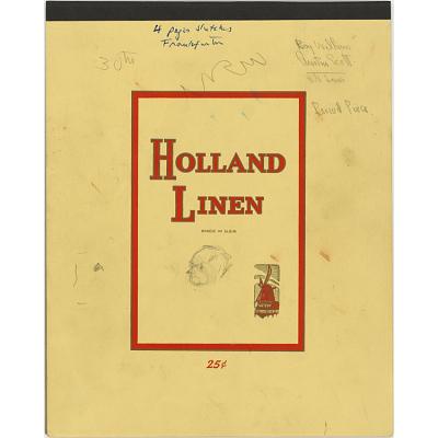 Sketchbook Containing Four Drawings of Felix Frankfurter