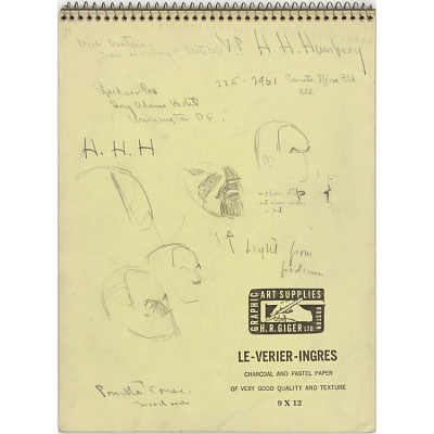 Sketchbook Containing Nineteen Drawings of Hubert H. Humphrey, Jr.