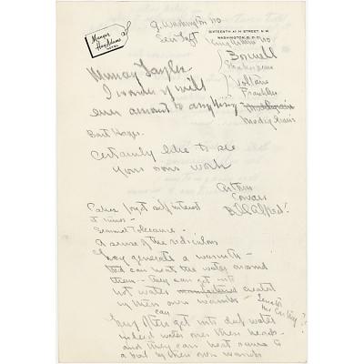Notes for portrait of Felix Frankfurter