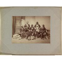 Frank Hamilton Cushing with Laiyuahtsailunkya, Naiyutchi, Palowahtiwa, Kiasiwa, and Nanake