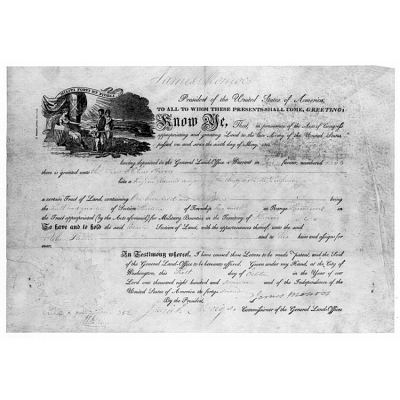 James Monroe's autograph