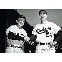 Casey Stengel and Walter Alston