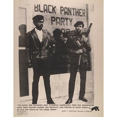 Huey Percy Newton and Bobby Seale
